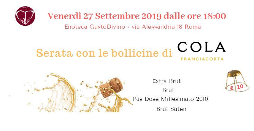 Serata con le bollicine di Cola Battista Franciacorta