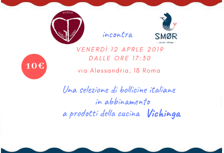 Bollicine Italiane e cucina Vichinga